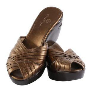 Cole Haan Bronze Platform Wedge Sandals